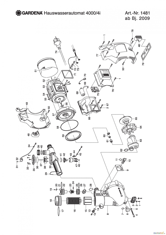 gardena wassertechnik pumpen hauswasserautomat 4000 4i ep pi ces de rechange. Black Bedroom Furniture Sets. Home Design Ideas